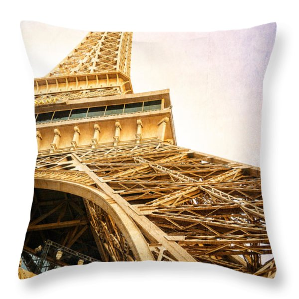 Eiffel Tower Throw Pillow by Edward Fielding