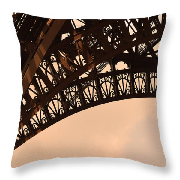 Eiffel Tower Paris France Arc Throw Pillow by Patricia Awapara