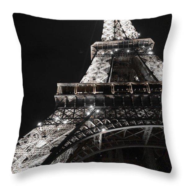 Eiffel Tower Paris France Night Lights Throw Pillow by Patricia Awapara