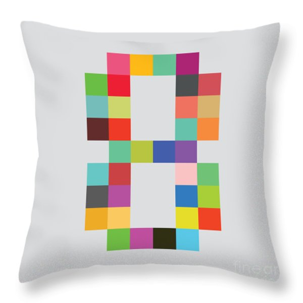 Eight bit Throw Pillow by Budi Kwan