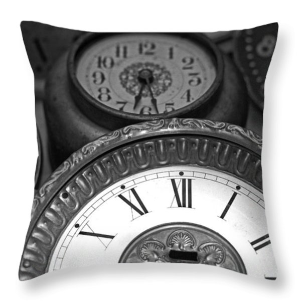 Eight Faces of Time Throw Pillow by Tom Gari Gallery-Three-Photography