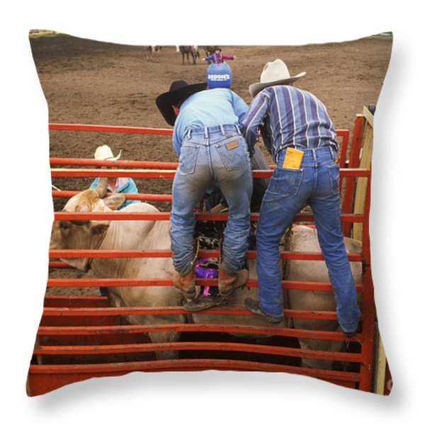Eight Seconds To Payday Throw Pillow by Bob Christopher