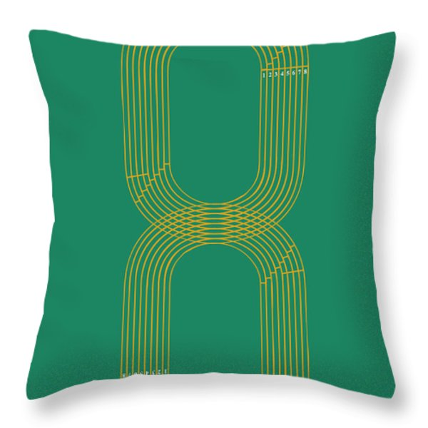 eight track runners never quit Throw Pillow by Budi Satria Kwan