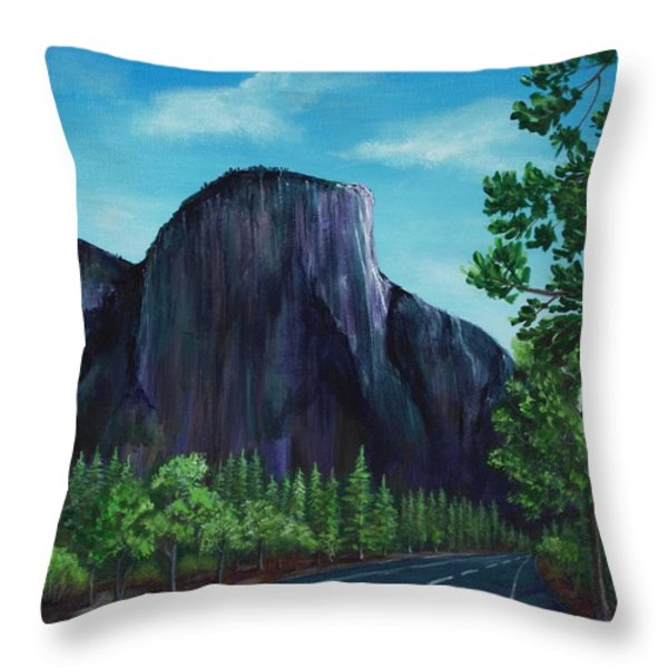 El Capitan Throw Pillow by Anastasiya Malakhova