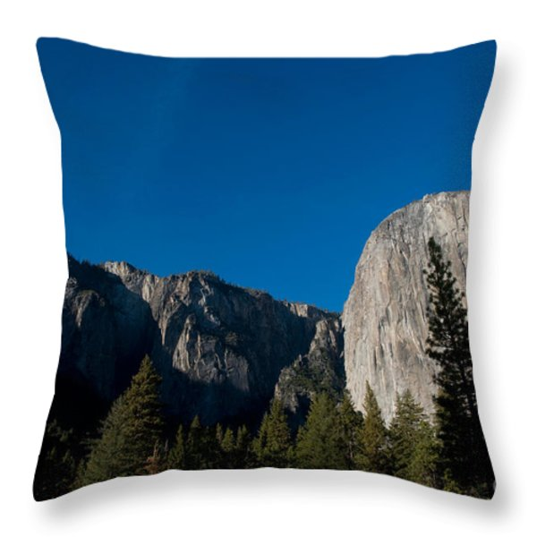 El Capitan, Yosemite Np Throw Pillow by Mark Newman
