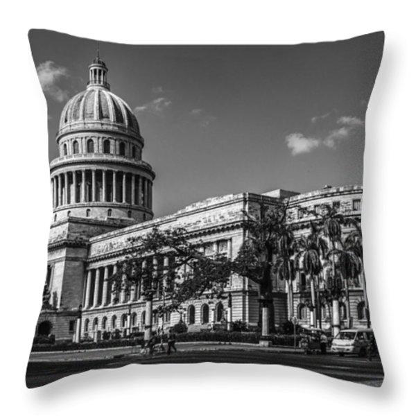 El Capitolio Throw Pillow by Erik Brede