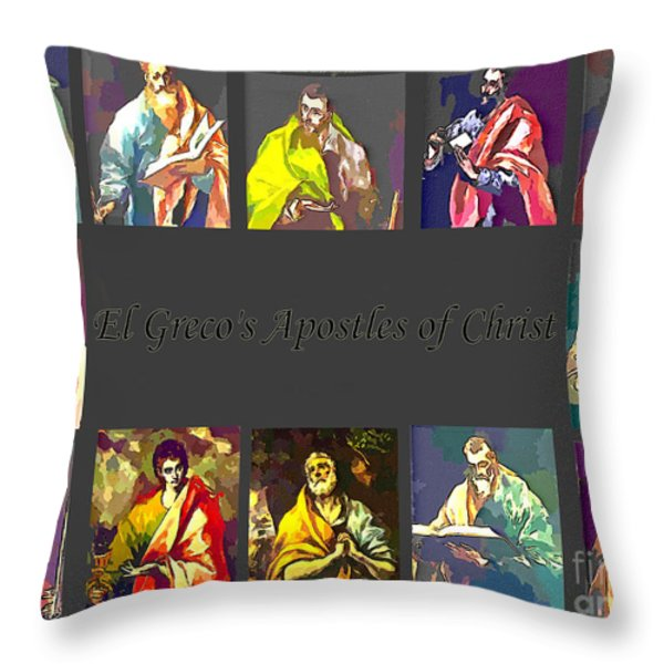 El Greco's Apostles of Christ Throw Pillow by Barbara Griffin