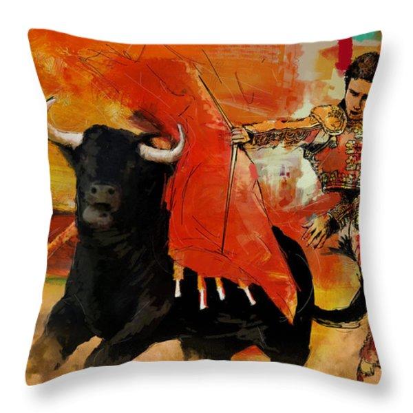 El Matador Throw Pillow by Corporate Art Task Force