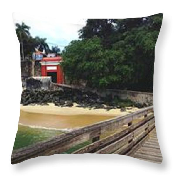 El Morro Park Throw Pillow by Carey Chen