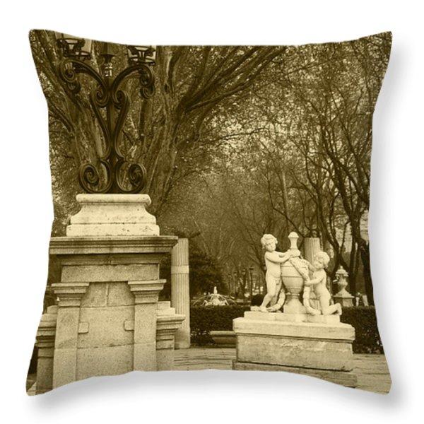 El Prado Madrid Throw Pillow by James Brunker