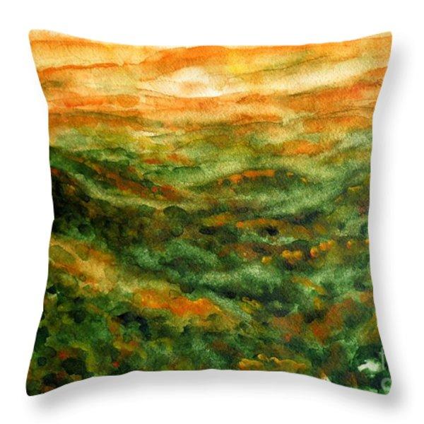 El Yunque Rainforest Throw Pillow by Zaira Dzhaubaeva