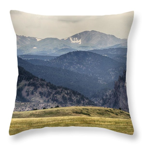 Eldorado Canyon And Continental Divide Above Throw Pillow by James BO  Insogna