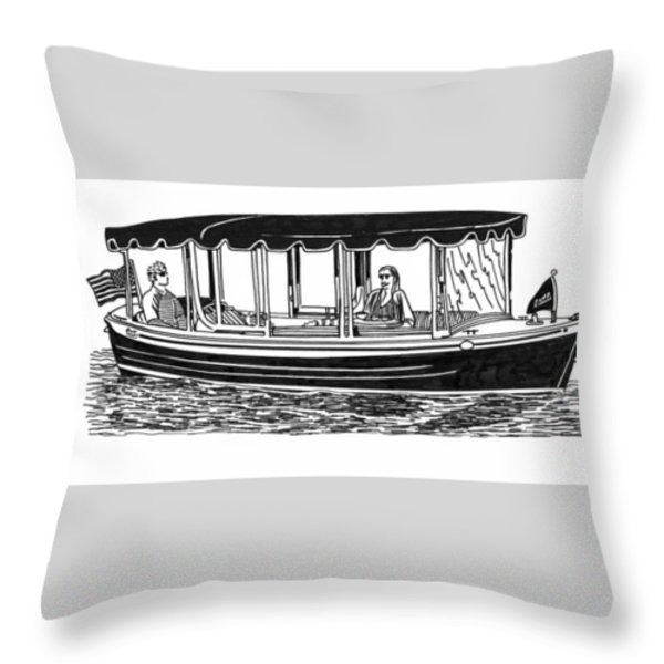 Electric Harbor Launch Throw Pillow by Jack Pumphrey