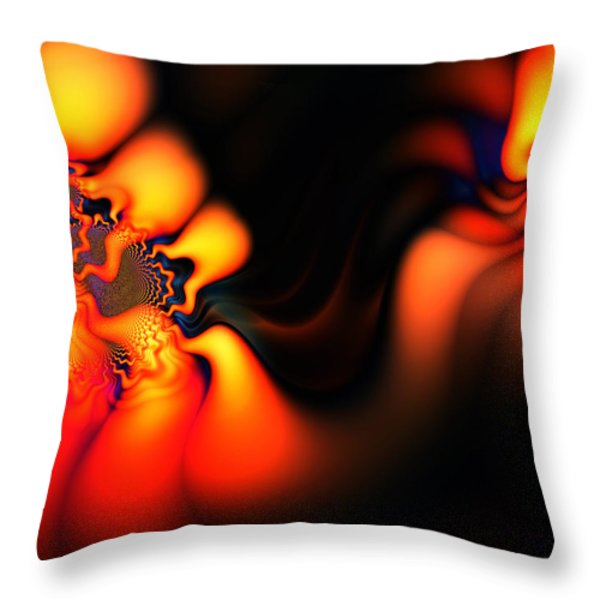 Electric Wave Throw Pillow by Ian Mitchell