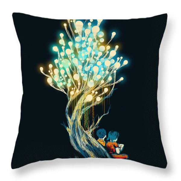 ElectriciTree Throw Pillow by Budi Satria Kwan