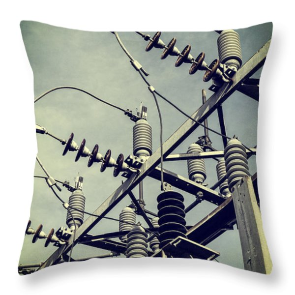 Electricity Throw Pillow by Edward Fielding