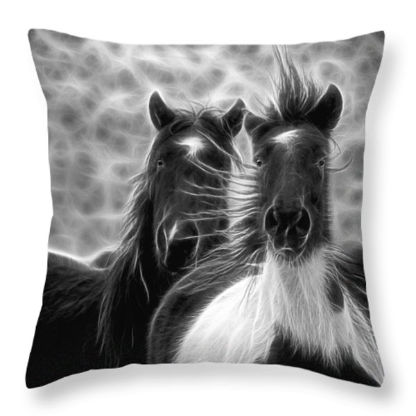 Electrified And Wild D8873 Throw Pillow by Wes and Dotty Weber