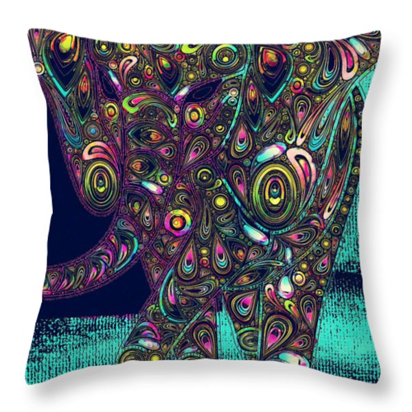 Elefantos - ptjs01a Throw Pillow by Variance Collections
