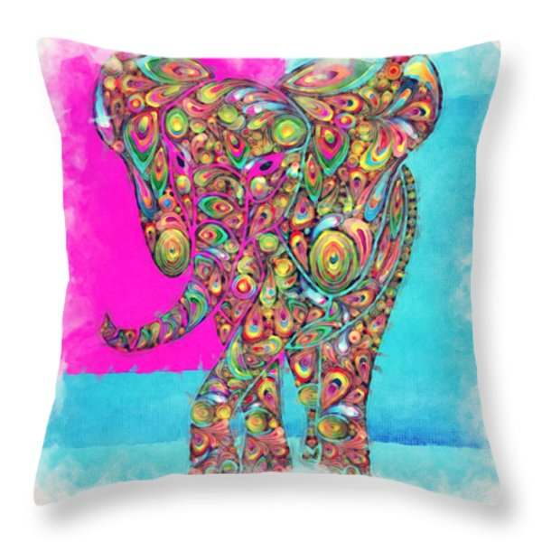 Elefantos - ptw01a Throw Pillow by Variance Collections