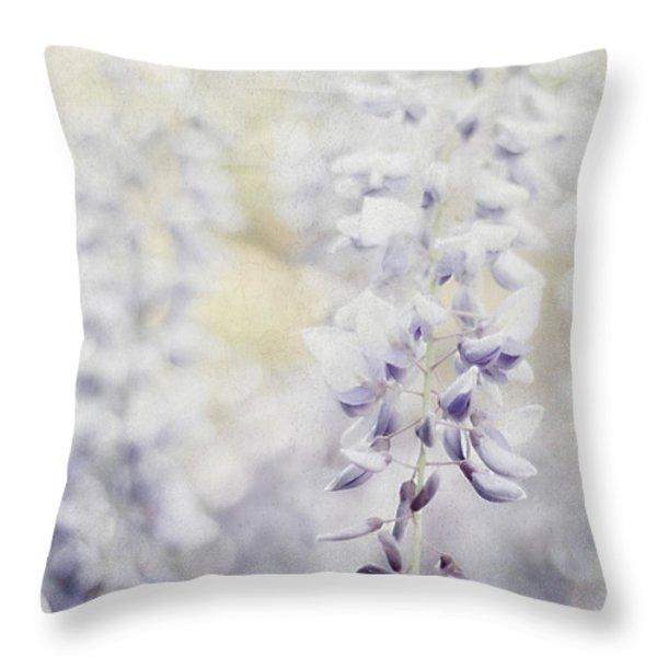 Elegant Wisteria Throw Pillow by Darren Fisher