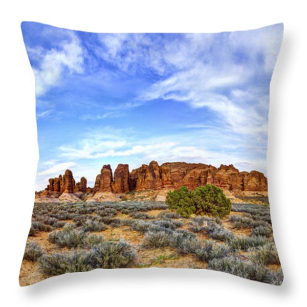 Elephant Butte Throw Pillow by Chad Dutson