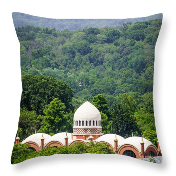 Elephant House at Cincinnati Zoo and Botanical Garden Throw Pillow by Paul Velgos