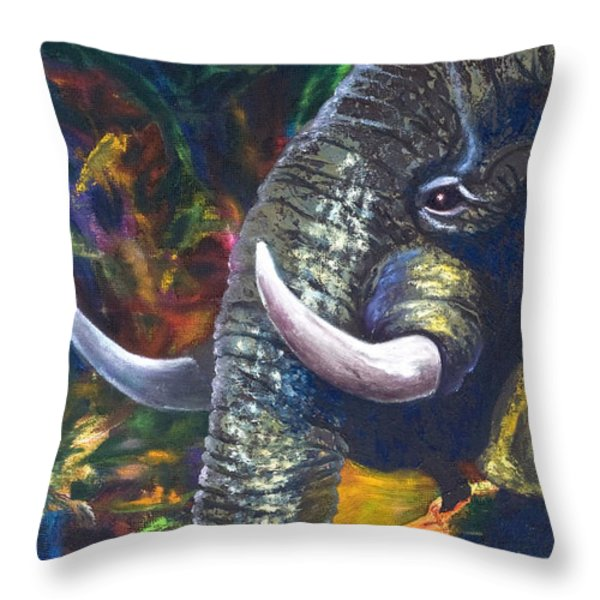 Elephant Throw Pillow by Kd Neeley
