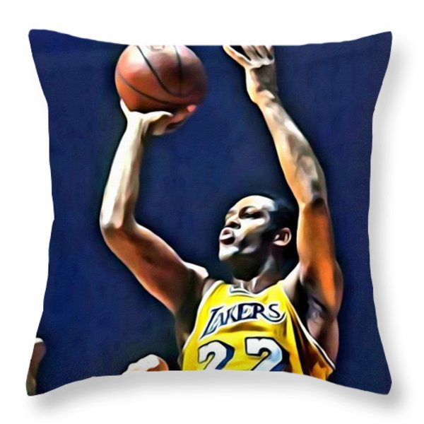 Elgin Baylor Throw Pillow by Florian Rodarte