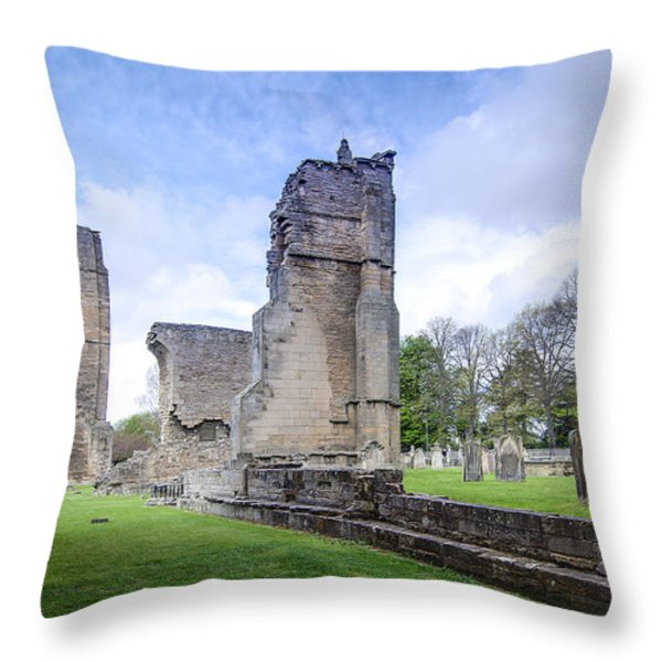 Elgin Cathedral Community - 19 Throw Pillow by Paul Cannon