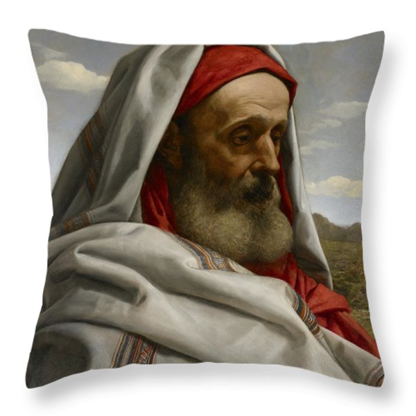 Eliezer Of Damascus Throw Pillow by William Dyce
