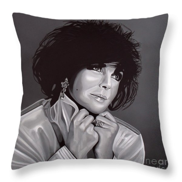 Elizabeth Taylor Throw Pillow by Paul Meijering
