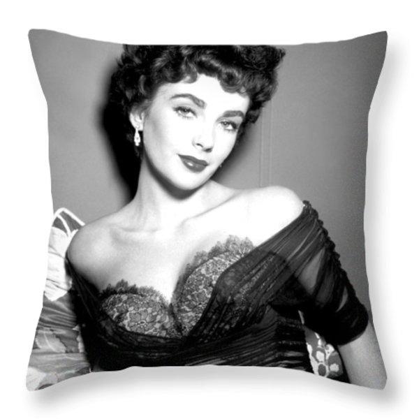 Elizabeth Taylor  Throw Pillow by Studio Release