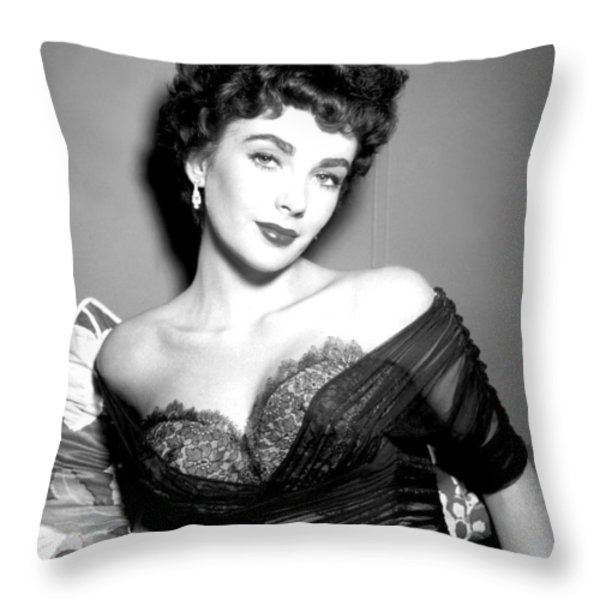 Elizabeth Taylor  Throw Pillow by Studio Release