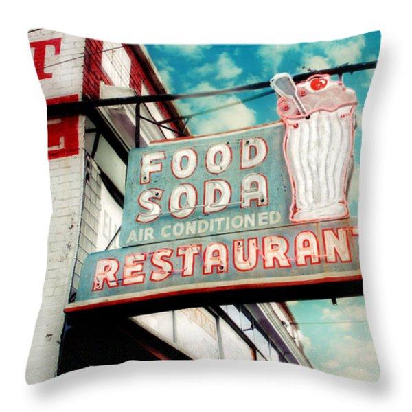 Elliston Place Soda Shop Throw Pillow by Amy Tyler