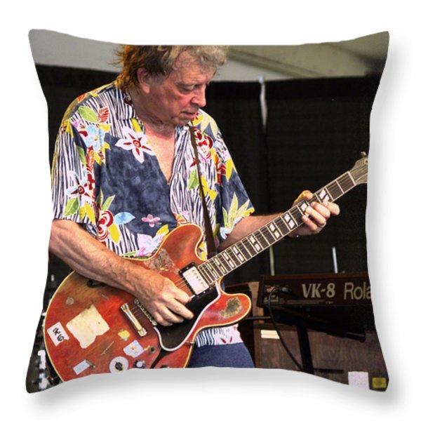Elvin Bishop Throw Pillow by Bill Gallagher