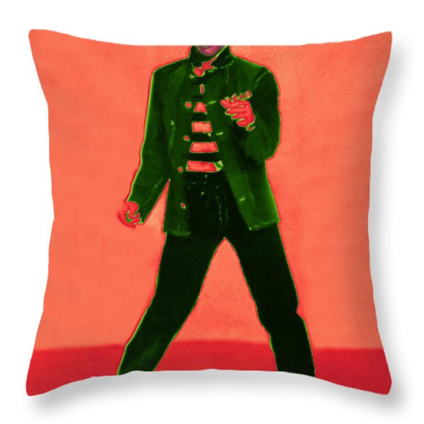 Elvis Is In The House 20130215m40 Throw Pillow by Wingsdomain Art and Photography