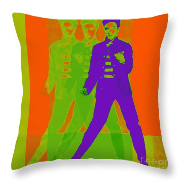 Elvis Jail House Rock 20130215m28 Throw Pillow by Wingsdomain Art and Photography