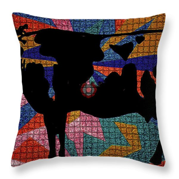 Elvis My Cow Throw Pillow by Robert Margetts