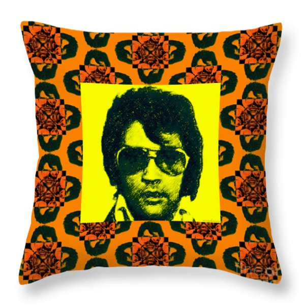 Elvis Presley Window P0 Throw Pillow by Wingsdomain Art and Photography