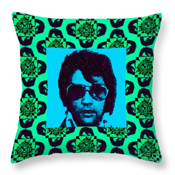 Elvis Presley Window P128 Throw Pillow by Wingsdomain Art and Photography