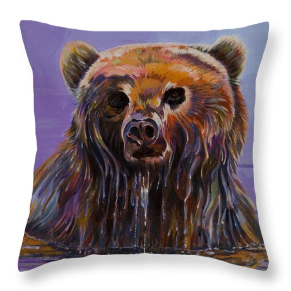 Embarrassed Throw Pillow by Bob Coonts