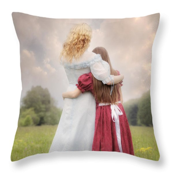 Embrace Throw Pillow by Joana Kruse