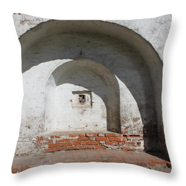 Embrasure Throw Pillow by Evgeny Pisarev