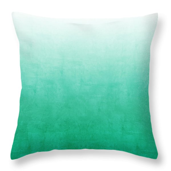 Emerald Bay Throw Pillow by Linda Woods