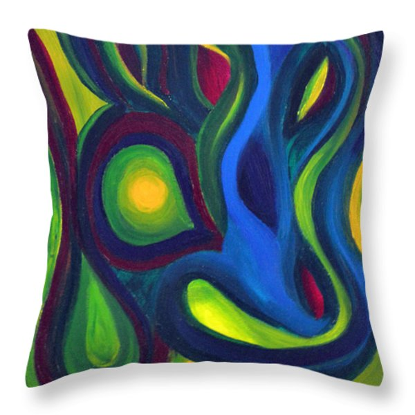 Emerald Dreams Throw Pillow by Daina White