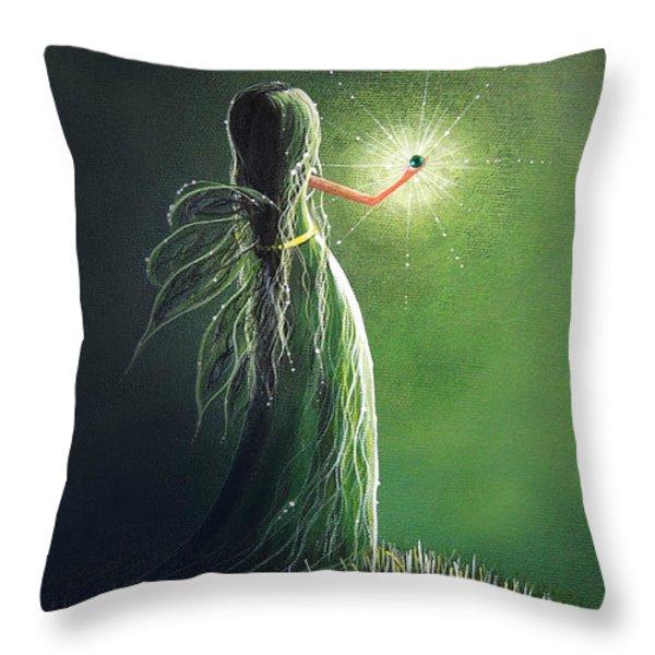 Emerald Fairy By Shawna Erback Throw Pillow by Shawna Erback