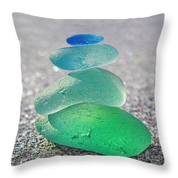 Emerald Light Throw Pillow by Barbara McMahon