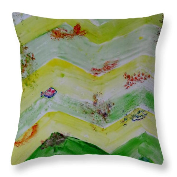 Emergence Of Life Throw Pillow by Sonali Gangane