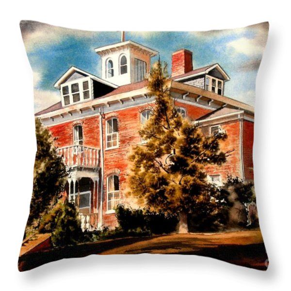 Emerson House Throw Pillow by Kip DeVore