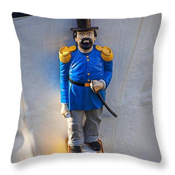 Emperor Norton Figurehead Throw Pillow by Garry Gay
